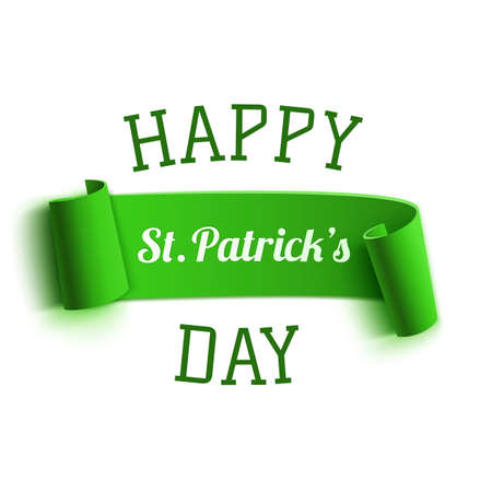saint paddy's: Saint Patricks Day greeting card. Background template. Vector illustration