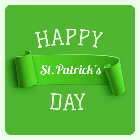 st paddy s day: Saint Patricks Day greeting card. Background template. Vector illustration