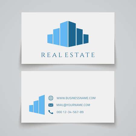 busines: Busines card template. Real estate logo. Vector illustration Illustration