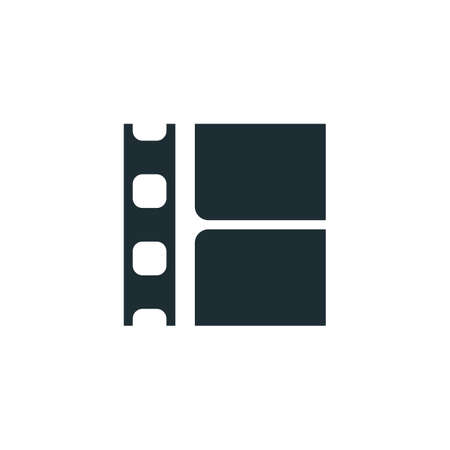 Film strip, simple conceptual logo. Vector illustration Stock Illustratie