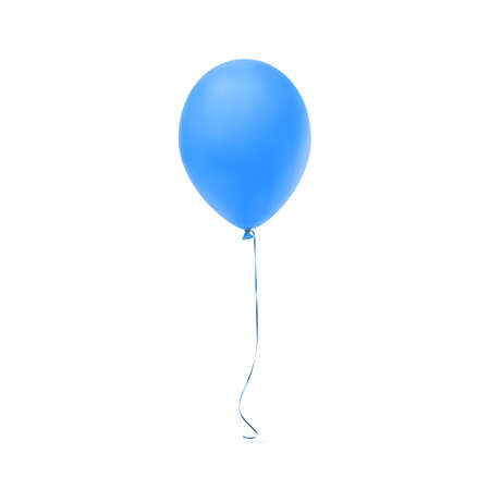 Blue balloon icon isolated on white background. Vector illustration Illustration
