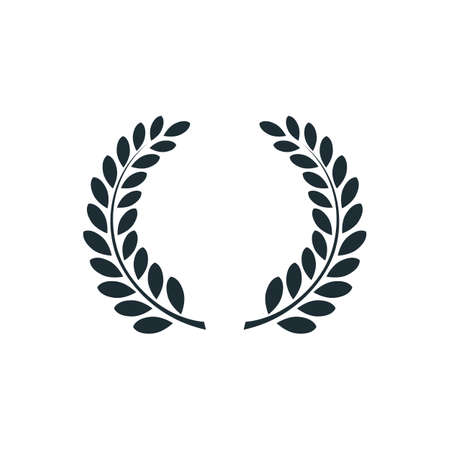 Laurel wreath , simple concept logo. Vector illustration