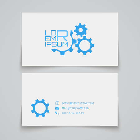gears concept: Business card template. Gears concept . Vector illustration