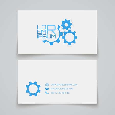 ingenieria industrial: Plantilla de tarjeta de visita. Concepto Gears. Ilustración vectorial