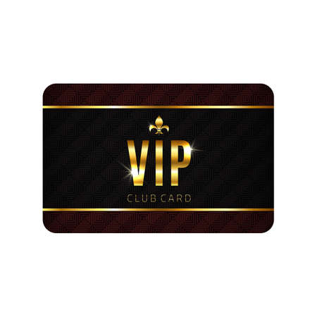 vip design: VIP card template, isolated on white background. Vector illustration
