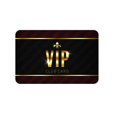 VIP-kaart sjabloon, geïsoleerd op een witte achtergrond. Vector illustratie