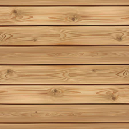 Realistic wooden background. Wood planks. Vector illustration Ilustração