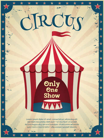circus: Vintage circus poster. Invitation to the show. Vector illustration.