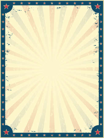 Vintage circus poster template. Funfair. Invitation to the show. Vector illustration.