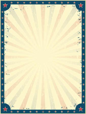 fondo de circo: Plantilla del cartel del circo del vintage. Parque de Atracciones. Invitación a la feria. Ilustración del vector.
