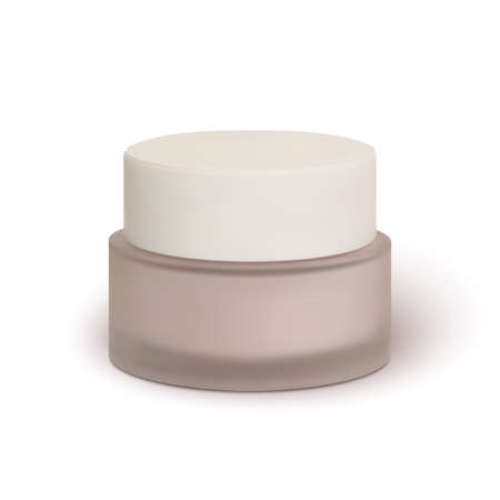 Cosmetic cream jar, isolated on white background. Face cream. Vector illustration. Illustration