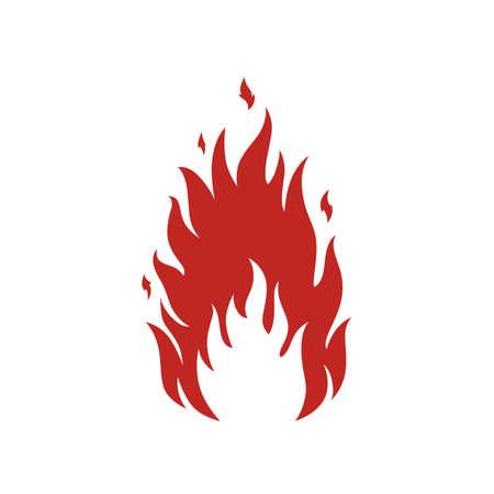 간단한 화재 아이콘입니다. 프리젠 테이션에 딱 맞습니다. 벡터 일러스트 레이 션.
