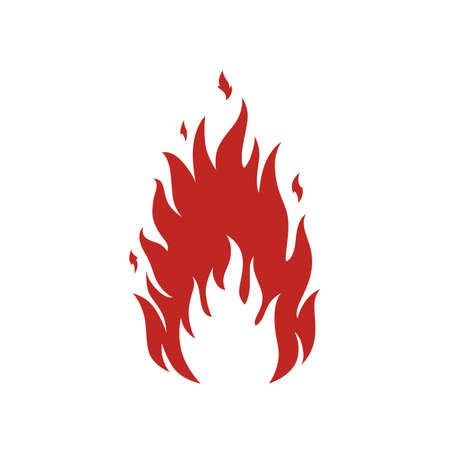 Simple fire icon. Perfect for your presentations. Vector illustration.