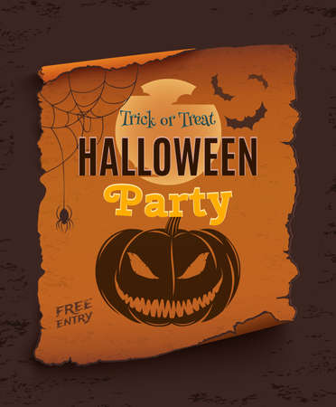 halloween party poster template for your projects vector