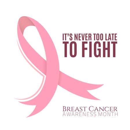 seni: Sfondo Il cancro al seno con nastro rosa. Illustrazione vettoriale. Vettoriali