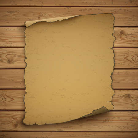 Wild west  blank grunge  old poster on wooden planks. Vector illustration.