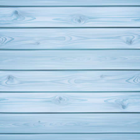 background wood: Realistic blue planks. Wood background Vector illustration. Illustration