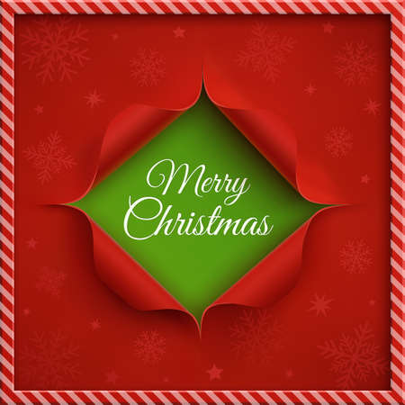 curved: Merry Christmas greeting card template. Vector illustration. Illustration