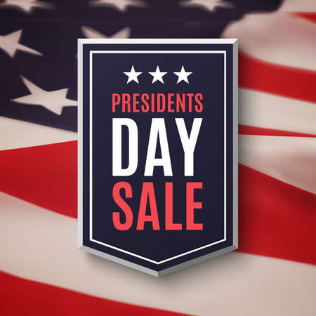 president's: Presidents day sale background.  American flag. illustration.