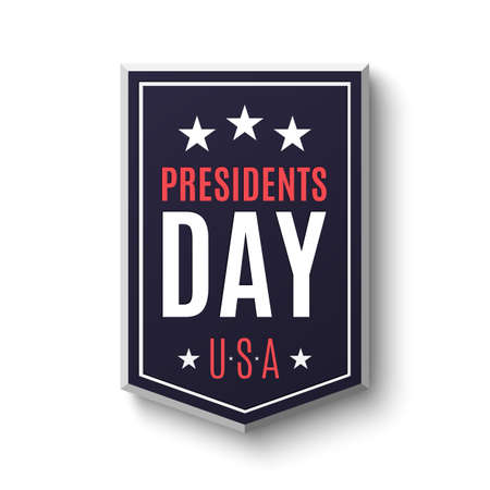 president's: Presidents day banner isolated on white background. Vector illustration. Illustration