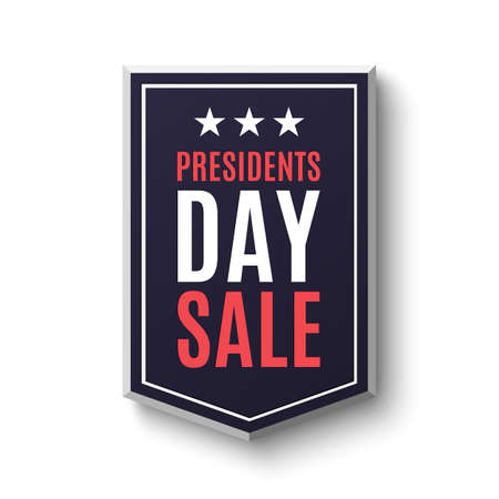 Presidents day sale banner, isolated on white background. Vector illustration. Illustration