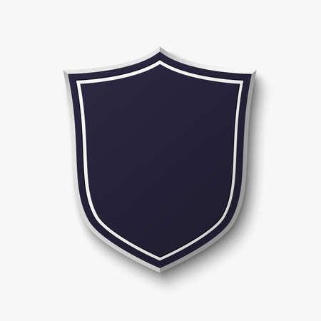 Lege blauwe schild op een witte achtergrond. Eenvoudig, lege banner. Vector illustratie. Vector Illustratie