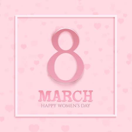 wallpaper International Women s Day: 08 Tháng 3 womens quốc tế ngày nền. Chào mừng mẫu thẻ. Vector hình minh họa. Hình minh hoạ