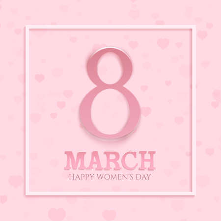 8 March international womens day background. Greeting card template. Vector illustration. Illustration