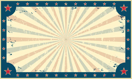 Vintage, grunge background, template for circus funfair carnival poster or ticket. Vector illustration. Stock Illustratie