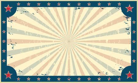 Vintage, grunge achtergrond, sjabloon voor circus kermis carnaval poster of ticket. Vector illustratie.