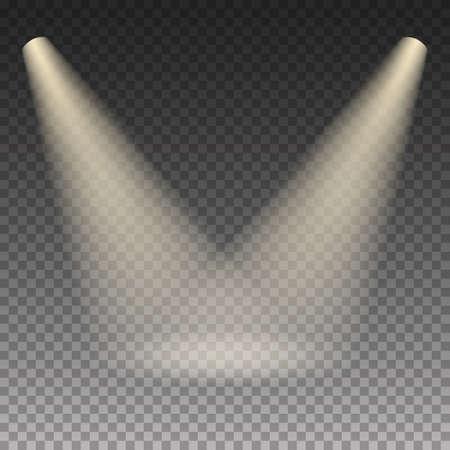 illumination: Scene illumination warm light effect on transparent background. Vector illustration.