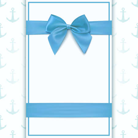 baby announcement: Blank greeting card template for baby boy shower celebration or baby boy announcement card. Vector illustration.