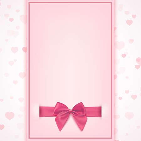 Plantilla de la tarjeta de felicitación en blanco de celebración bebé ducha, cumpleaños, o la tarjeta de invitación de la niña, el día de San Valentín, Día de la Mujer, Día de la Madre. Ilustración del vector.