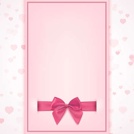 Blank greeting card template for baby girl shower celebration, birthday, or baby girl announcement card, Valentines day, Womens day, Mothers day. Vector illustration.