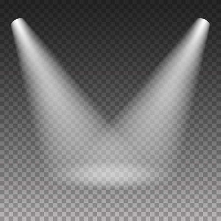 Scène éclairage effet de lumière blanche froide sur fond transparent. illustration. Banque d'images - 53902031