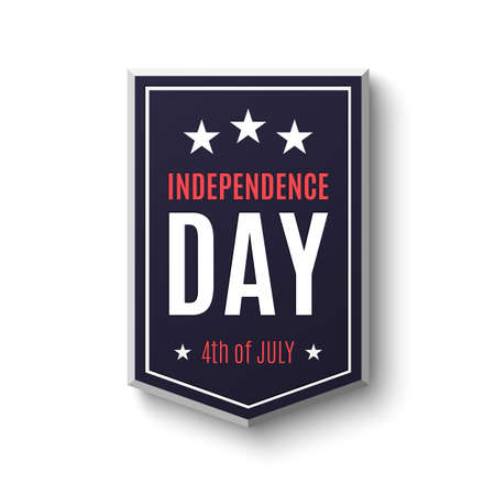national hero: Independence day background, 4th of July. Banner on isolated on white. Vector illustration. Illustration