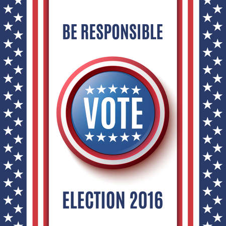 balloting: American Election 2016 background. Poster or brochure template.