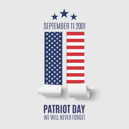 remembrance day: Patriot Day background with abstract New York Twin Towers. 11 September, National Day of Remembrance. Vector illustration.