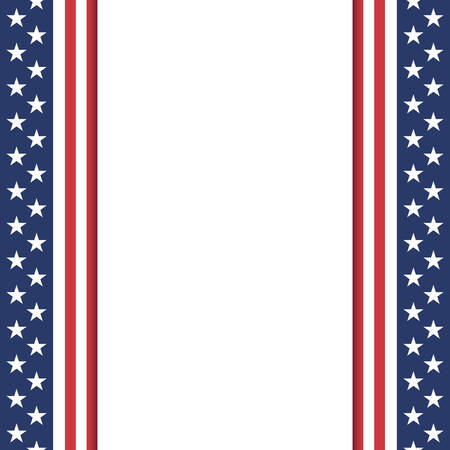 red white blue: Blank American background. Poster or brochure template. Vector illustration.