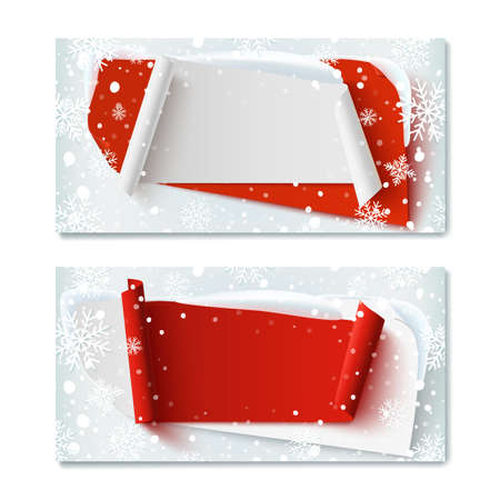 Two, Blank, Christmas Time, Winter Gift Voucher Templates, With ...