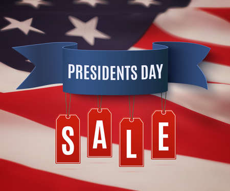 president's: Presidents Day sale background template.