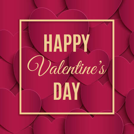 valentine passion: Happy Valentines Day greeting card template.