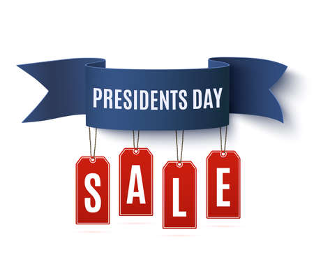 Presidents Day sale background template.