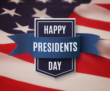 president's: Happy Presidents Day background template.
