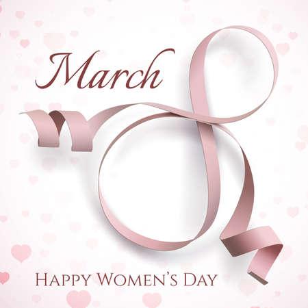 8 marzo internazionale della donna Biglietto di auguri. Vettoriali