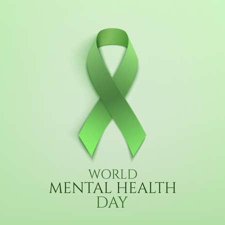 Wereld geestelijke gezondheid dag achtergrond. Vector Illustratie