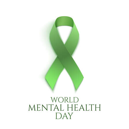 World mental health day illustration. Ilustracja