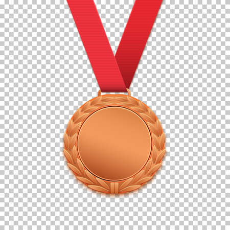 Bronze medal isolated.