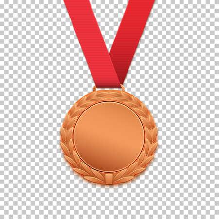 Bronzen medaille geïsoleerd.