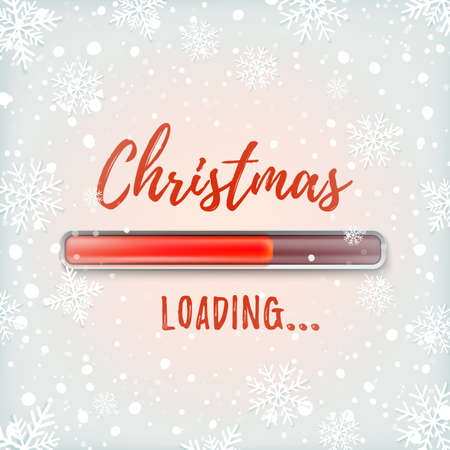 Christmas loading. Abstract red design illustration.